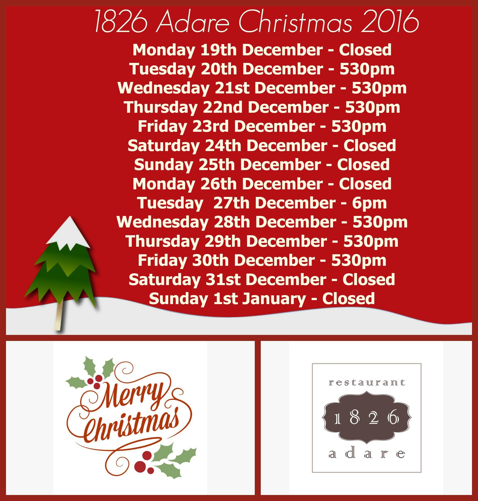 1826 Adare, Best Restaurant in Limerick & Munster. Proprietors ...
